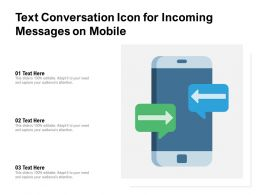 Conversation Icon For Incoming Messages On Mobile
