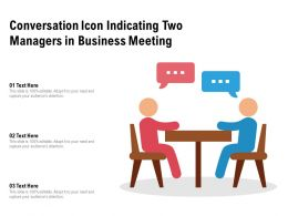 Conversation Icon Indicating Two Managers In Business Meeting