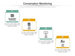 Conversation Monitoring Ppt Powerpoint Presentation Styles Themes Cpb