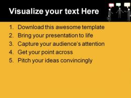 Conversation People PowerPoint Template 0510  Presentation Themes and Graphics Slide02
