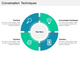 Conversation Techniques Ppt Powerpoint Presentation Gallery Icon Cpb