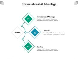 Conversational AI Advantage Ppt Powerpoint Presentation Professional Infographics Cpb