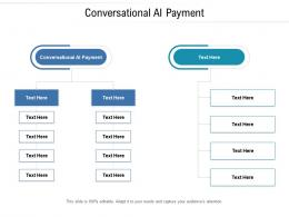 Conversational Ai Payment Ppt Powerpoint Presentation Model Show Cpb
