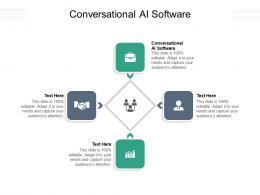 Conversational AI Software Ppt Powerpoint Presentation Portfolio Graphics Pictures Cpb