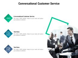 Conversational Customer Service Ppt Powerpoint Presentation Model Design Inspiration Cpb