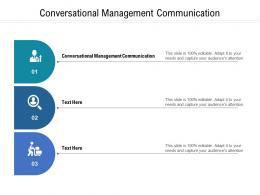 Conversational Management Communication Ppt Powerpoint Presentation Icon Show Cpb