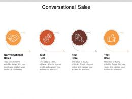 Conversational Sales Ppt Powerpoint Presentation Layouts Elements Cpb
