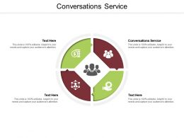 Conversations Service Ppt Powerpoint Presentation Ideas Infographic Template Cpb