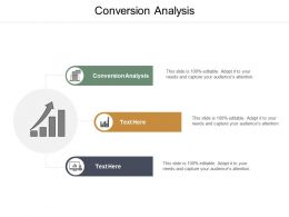 Conversion Analysis Ppt Powerpoint Presentation Layouts Icons Cpb