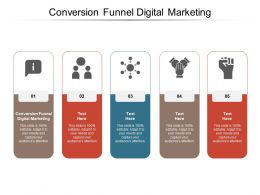 Conversion Funnel Digital Marketing Ppt Powerpoint Presentation Gallery Template