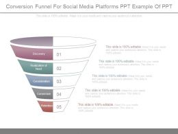 Conversion Funnel For Social Media Platforms Ppt Example Of Ppt