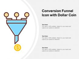 Conversion Funnel Icon With Dollar Coin