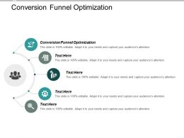 Conversion Funnel Optimization Ppt Powerpoint Presentation Inspiration Cpb