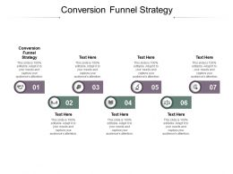 Conversion Funnel Strategy Ppt Powerpoint Presentation Ideas Good Cpb