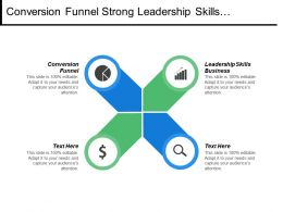 Conversion Funnel Strong Leadership Skills Business Promotional Ideas