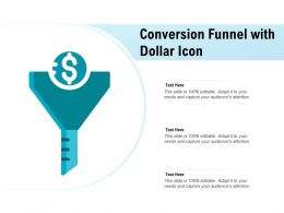 Conversion Funnel With Dollar Icon