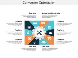 Conversion Optimization Ppt Powerpoint Presentation Icon Summary Cpb