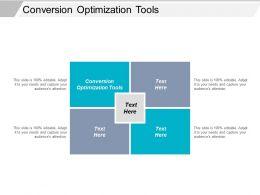 Conversion Optimization Tools Ppt Powerpoint Presentation File Slide Portrait Cpb
