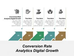 Conversion Rate Analytics Digital Growth Ppt Powerpoint Presentation Ideas Designs Cpb
