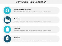 Conversion Rate Calculation Ppt Powerpoint Presentation Portfolio Graphics Design Cpb