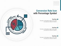 Conversion Rate Icon With Percentage Symbol