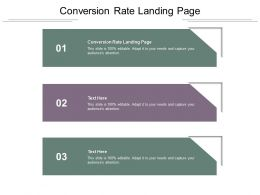 Conversion Rate Landing Page Ppt Powerpoint Presentation File Visual Aids Cpb