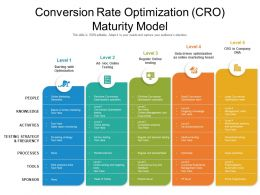 Conversion Rate Optimization CRO Maturity Model