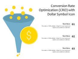 Conversion Rate Optimization CRO With Dollar Symbol Icon