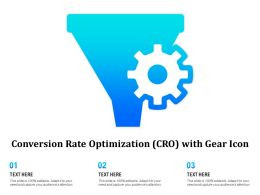 Conversion Rate Optimization CRO With Gear Icon