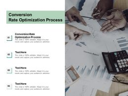 Conversion Rate Optimization Process Ppt Powerpoint Presentation Infographics Diagrams Cpb