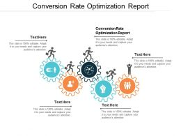 Conversion Rate Optimization Report Ppt Powerpoint Presentation File Model Cpb