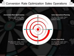 Conversion Rate Optimization Sales Operations Planning Global Team Work Cpb