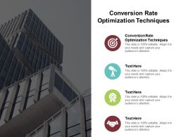 Conversion Rate Optimization Techniques Ppt Powerpoint Presentation File Aids Cpb