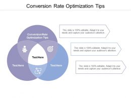 Conversion Rate Optimization Tips Ppt Powerpoint Presentation File Graphics Cpb