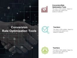 Conversion Rate Optimization Tools Ppt Powerpoint Presentation File Brochure Cpb