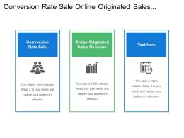 Conversion Rate Sale Online Originated Sales Revenue Product