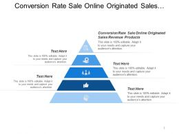 Conversion Rate Sale Online Originated Sales Revenue Products