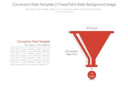 Conversion Rate Template 2 Powerpoint Slide Background Image
