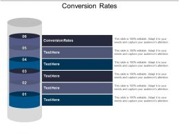 Conversion Rates Ppt Powerpoint Presentation Ideas Files Cpb