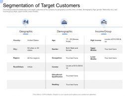 Convertible Bond Funding Segmentation Of Target Customers Ppt Powerpoint Presentation