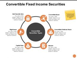 Convertible Fixed Income Securities Ppt Powerpoint Slides
