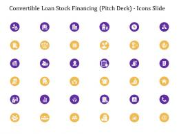 Convertible Loan Stock Financing Pitch Deck Icons Slide Ppt Introduction