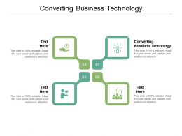 Converting Business Technology Ppt Powerpoint Presentation Demonstration Cpb