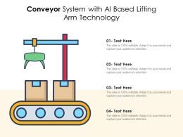 Conveyor System With AI Based Lifting Arm Technology
