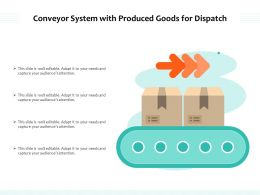 Conveyor System With Produced Goods For Dispatch