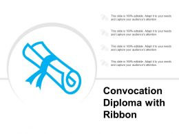 Convocation Diploma With Ribbon