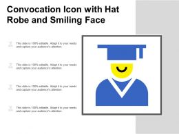 Convocation Icon With Hat Robe And Smiling Face