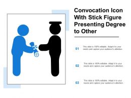 Convocation Icon With Stick Figure Presenting Degree To Other