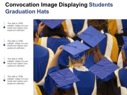 Convocation Image Displaying Students Graduation Hats