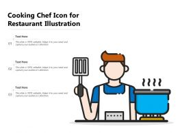 Cooking Chef Icon For Restaurant Illustration